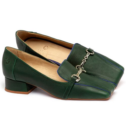Laranja_Lima_Shoes_Sapatos_Femininos_Scarpin_Salto_Baixo_de_2_cm_em_Couro_Verde_-_Codigo_-_3734_1