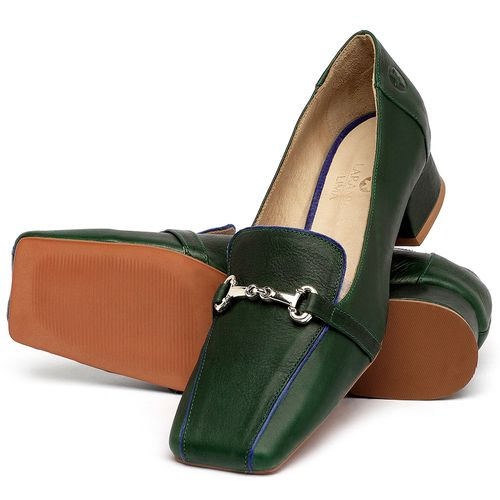 Laranja_Lima_Shoes_Sapatos_Femininos_Scarpin_Salto_Baixo_de_2_cm_em_Couro_Verde_-_Codigo_-_3734_2