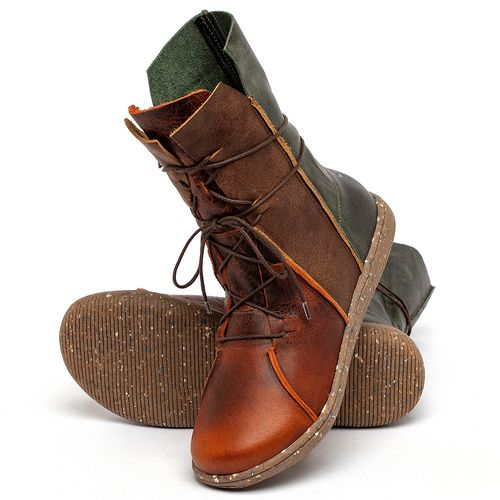 Laranja_Lima_Shoes_Sapatos_Femininos_Flat_Boot_em_Couro_Multicolor_-_Codigo_-_137324_2