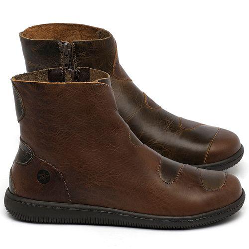 Laranja_Lima_Shoes_Sapatos_Femininos_Bota_Cano_Curto_em_Couro_Marrom_-_Codigo_-_137325_1