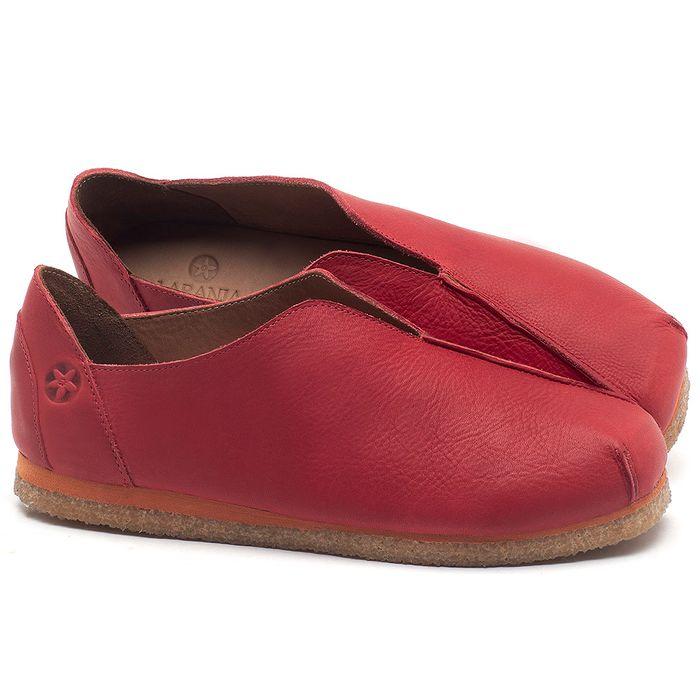 Laranja_Lima_Shoes_Sapatos_Femininos_Sapatilha_Bico_Quadrado_em_Couro_Vermelho_-_Codigo_-_3050_1