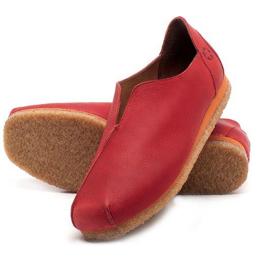 Laranja_Lima_Shoes_Sapatos_Femininos_Sapatilha_Bico_Quadrado_em_Couro_Vermelho_-_Codigo_-_3050_2