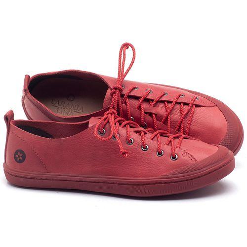 Laranja_Lima_Shoes_Sapatos_Femininos_Tenis_Cano_Baixo_em_Couro_Vermelho_-_Codigo_-_141112_1