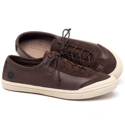 Laranja_Lima_Shoes_Sapatos_Femininos_Tenis_Cano_Baixo_em_Couro_Cafe_-_Codigo_-_141145_1