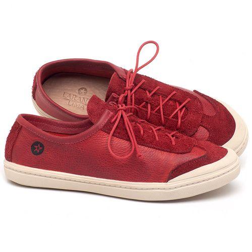 Laranja_Lima_Shoes_Sapatos_Femininos_Tenis_Cano_Baixo_em_Couro_Vermelho_-_Codigo_-_141145_1