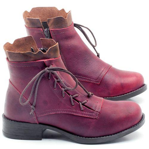 Laranja_Lima_Shoes_Sapatos_Femininos_Bota_Cano_Curto_em_Couro_Vinho_-_Codigo_-_141066_1