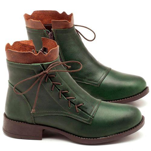 Laranja_Lima_Shoes_Sapatos_Femininos_Bota_Cano_Curto_em_Couro_Verde_-_Codigo_-_141066_1