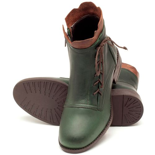 Laranja_Lima_Shoes_Sapatos_Femininos_Bota_Cano_Curto_em_Couro_Verde_-_Codigo_-_141066_2