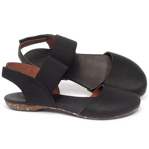 Laranja_Lima_Shoes_Sapatos_Femininos_Sapatilha_Bico_Redondo_em_Couro_Preto_-_Codigo_-_148027_1