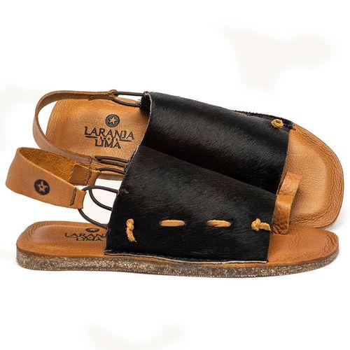 Laranja_Lima_Shoes_Sapatos_Femininos_Sandalia_Rasteira_Flat_em_Couro_Preto_-_Codigo_-_141192_1