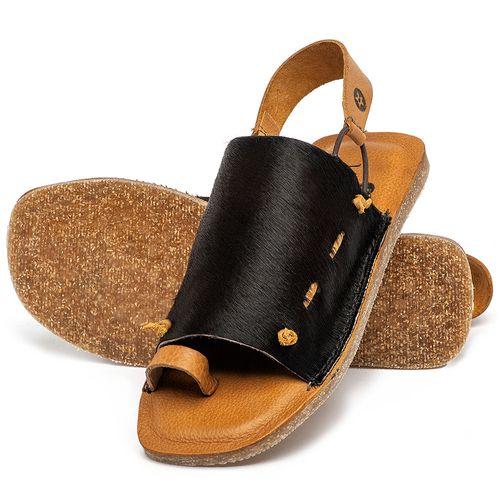 Laranja_Lima_Shoes_Sapatos_Femininos_Sandalia_Rasteira_Flat_em_Couro_Preto_-_Codigo_-_141192_2