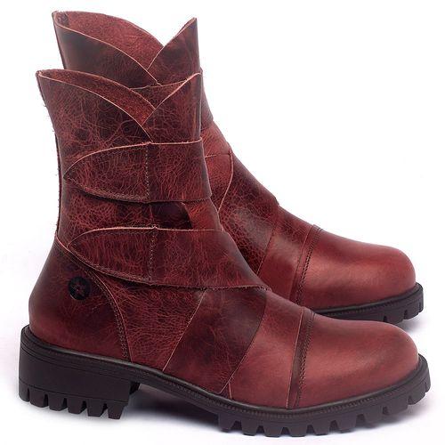 Laranja_Lima_Shoes_Sapatos_Femininos_Bota_Cano_Curto_em_Couro_Vermelho_-_Codigo_-_137235_1
