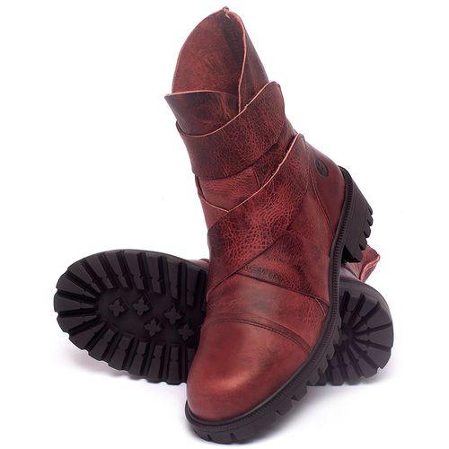 Laranja_Lima_Shoes_Sapatos_Femininos_Bota_Cano_Curto_em_Couro_Vermelho_-_Codigo_-_137235_2