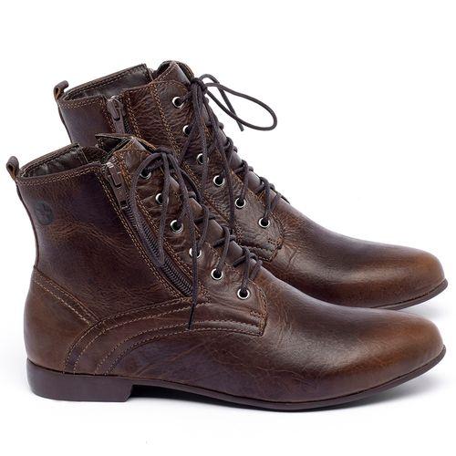 Laranja_Lima_Shoes_Sapatos_Femininos_Bota_Cano_Curto_em_Couro_Marrom_-_Codigo_-_136066_1
