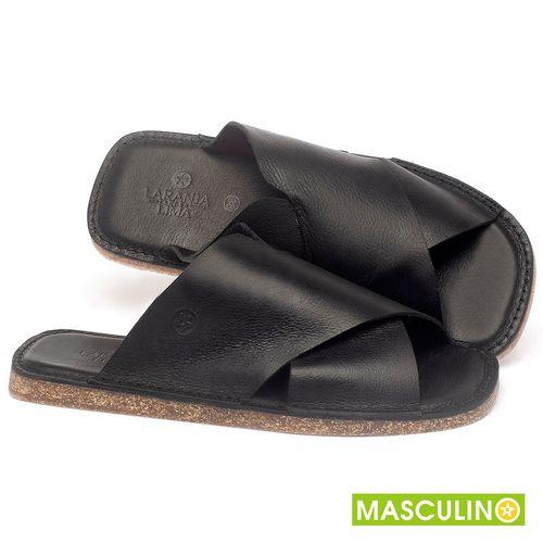 Laranja_Lima_Shoes_Sapatos_Masculinos_Rasteira_em_Couro_Preto_-_Codigo_-_141181_1