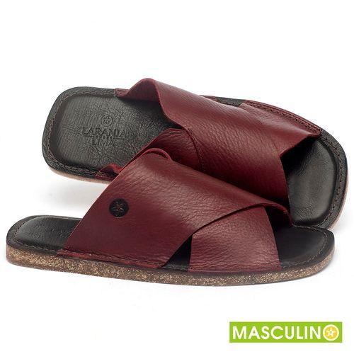 Laranja_Lima_Shoes_Sapatos_Masculinos_Rasteira_em_Couro_Vinho_-_Codigo_-_141181_1