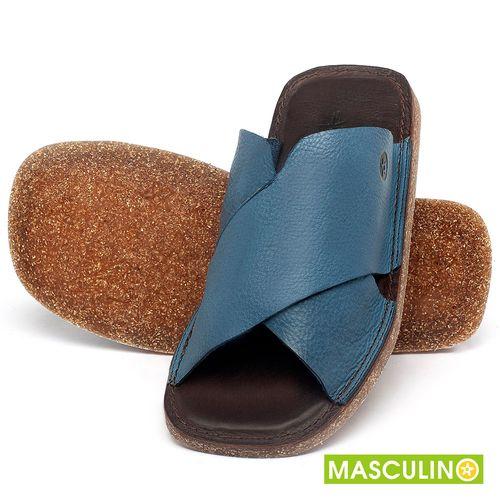 Laranja_Lima_Shoes_Sapatos_Masculinos_Rasteira_em_Couro_Azul_-_Codigo_-_141181_2