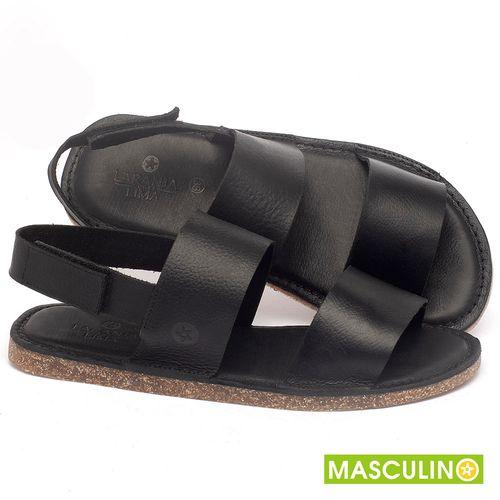 Laranja_Lima_Shoes_Sapatos_Masculinos_Rasteira_em_Couro_Preto_-_Codigo_-_141179_1