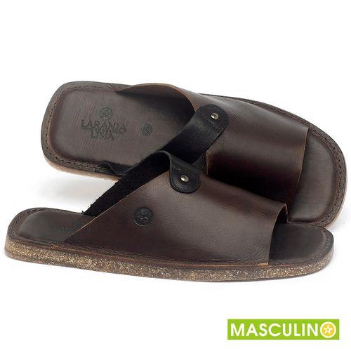 Laranja_Lima_Shoes_Sapatos_Masculinos_Rasteira_em_Couro_Marrom_-_Codigo_-_141183_1