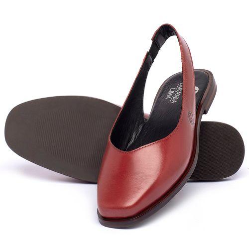 Laranja_Lima_Shoes_Sapatos_Femininos_Sapatilha_Bico_Quadrado_em_Couro_Vermelho_-_Codigo_-_136081_2