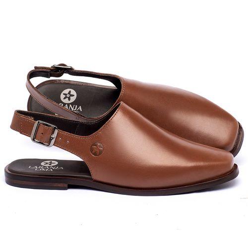 Laranja_Lima_Shoes_Sapatos_Femininos_Sapatilha_Bico_Quadrado_em_Couro_Caramelo_-_Codigo_-_136085_1