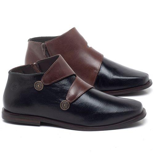 Laranja_Lima_Shoes_Sapatos_Femininos_Bota_Cano_Curto_em_Couro_Bicolor_-_Codigo_-_136087_1