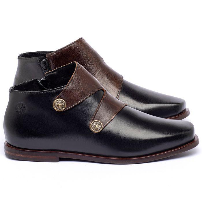 Laranja_Lima_Shoes_Sapatos_Femininos_Bota_Cano_Curto_em_Couro_Preto_-_Codigo_-_136087_1