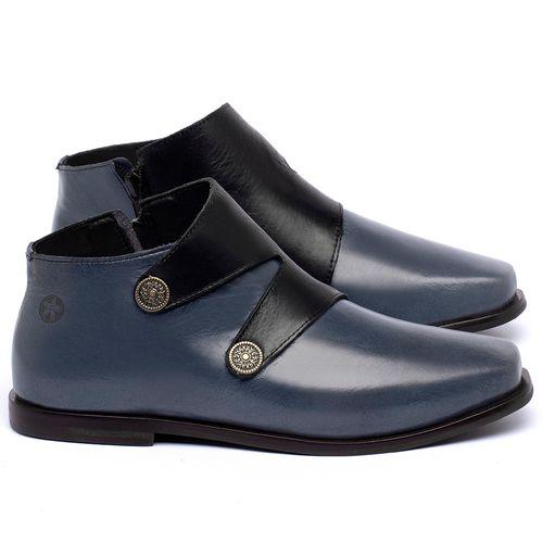 Laranja_Lima_Shoes_Sapatos_Femininos_Bota_Cano_Curto_em_Couro_Azul_-_Codigo_-_136087_1