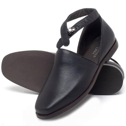 Laranja_Lima_Shoes_Sapatos_Femininos_Sapatilha_Bico_Quadrado_em_Couro_Preto_-_Codigo_-_136090_2
