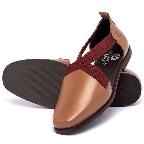 Laranja_Lima_Shoes_Sapatos_Femininos_Sapatilha_Bico_Quadrado_em_Couro_Caramelo_-_Codigo_-_136084_2