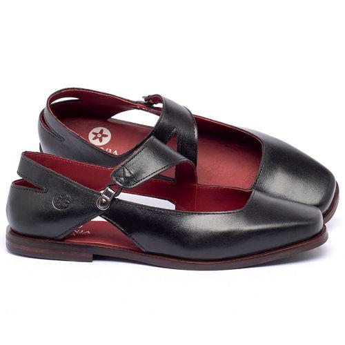 Laranja_Lima_Shoes_Sapatos_Femininos_Sapatilha_Bico_Quadrado_em_Couro_Preto_-_Codigo_-_136091_1
