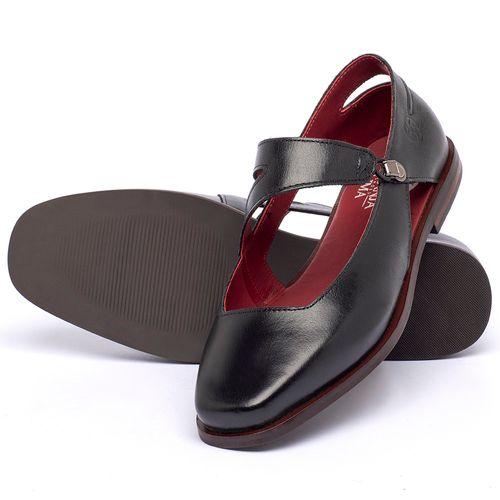 Laranja_Lima_Shoes_Sapatos_Femininos_Sapatilha_Bico_Quadrado_em_Couro_Preto_-_Codigo_-_136091_2