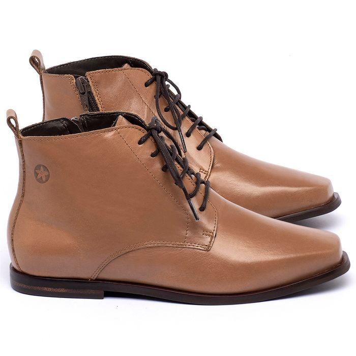 Laranja_Lima_Shoes_Sapatos_Femininos_Bota_Cano_Curto_em_Couro_Caramelo_-_Codigo_-_136088_1