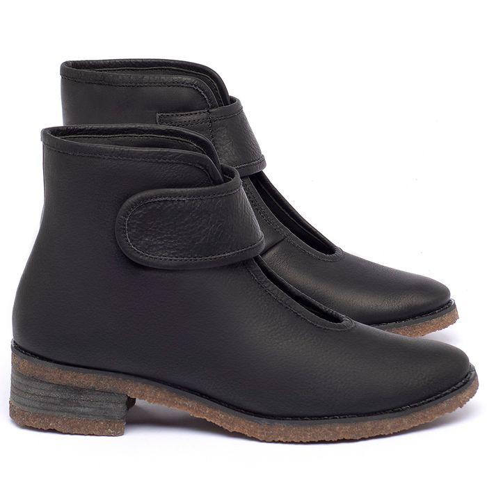 Laranja_Lima_Shoes_Sapatos_Femininos_Bota_Cano_Curto_em_Couro_Preto_-_Codigo_-_56230_1