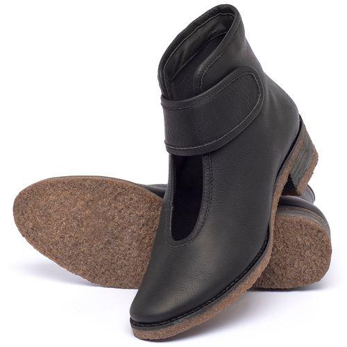 Laranja_Lima_Shoes_Sapatos_Femininos_Bota_Cano_Curto_em_Couro_Preto_-_Codigo_-_56230_2