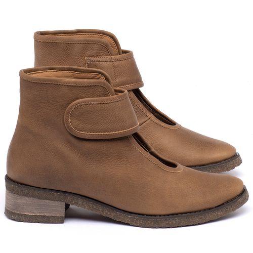 Laranja_Lima_Shoes_Sapatos_Femininos_Bota_Cano_Curto_em_Couro_Caramelo_-_Codigo_-_56230_1