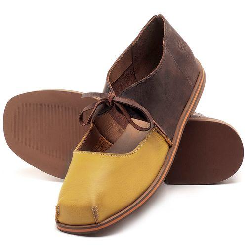 Laranja_Lima_Shoes_Sapatos_Femininos_Sapatilha_Bico_Quadrado_em_Couro_Bicolor_-_Codigo_-_3052_2