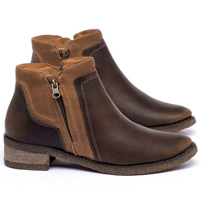 Laranja_Lima_Shoes_Sapatos_Femininos_Bota_Cano_Curto_em_Couro_Marrom_-_Codigo_-_56234_1