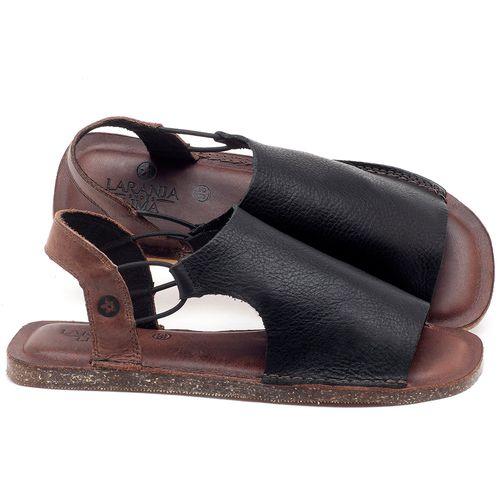 Laranja_Lima_Shoes_Sapatos_Femininos_Sandalia_Rasteira_Flat_em_Couro_Preto_-_Codigo_-_141043_1