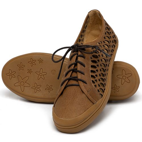 Laranja_Lima_Shoes_Sapatos_Femininos_Tenis_Cano_Baixo_em_Couro_Caramelo_-_Codigo_-_3746_2