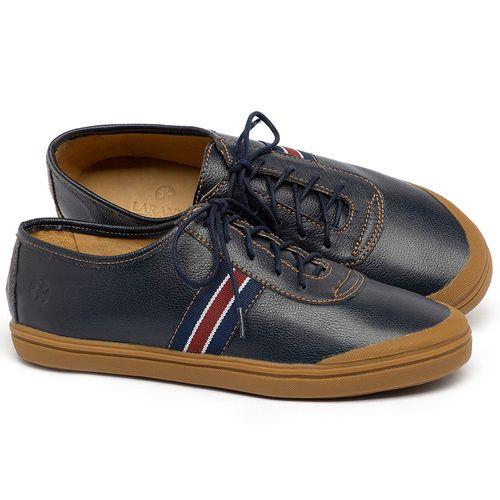 Laranja_Lima_Shoes_Sapatos_Femininos_Tenis_Cano_Baixo_em_Couro_Azul_-_Codigo_-_3749_1