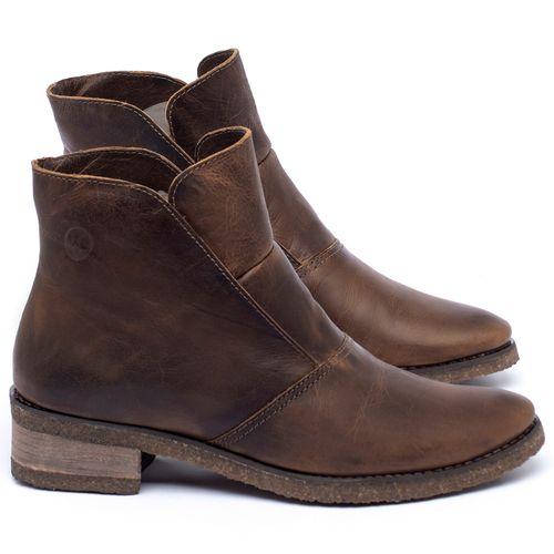Laranja_Lima_Shoes_Sapatos_Femininos_Bota_Cano_Curto_em_Couro_Marrom_-_Codigo_-_56232_1
