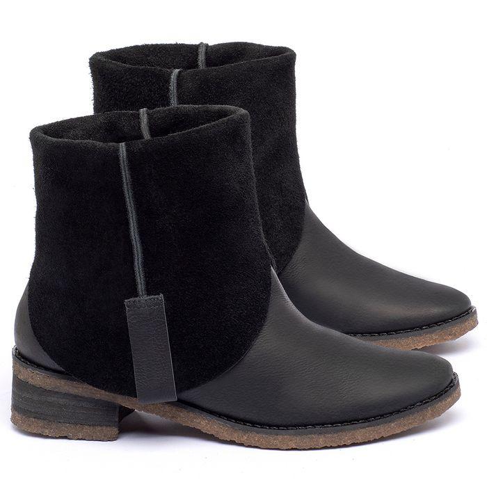Laranja_Lima_Shoes_Sapatos_Femininos_Bota_Cano_Curto_em_Couro_Preto_-_Codigo_-_56235_1