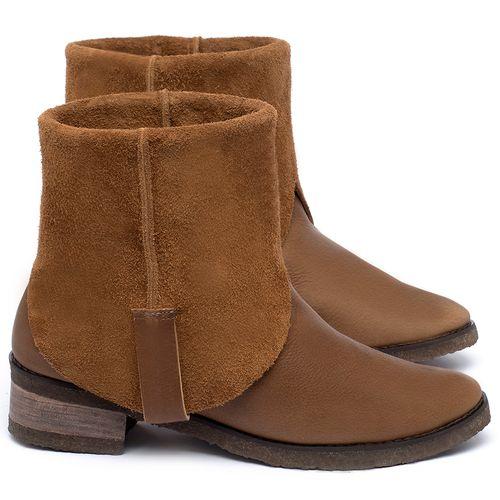 Laranja_Lima_Shoes_Sapatos_Femininos_Bota_Cano_Curto_em_Couro_Caramelo_-_Codigo_-_56235_1