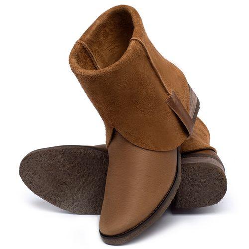 Laranja_Lima_Shoes_Sapatos_Femininos_Bota_Cano_Curto_em_Couro_Caramelo_-_Codigo_-_56235_2