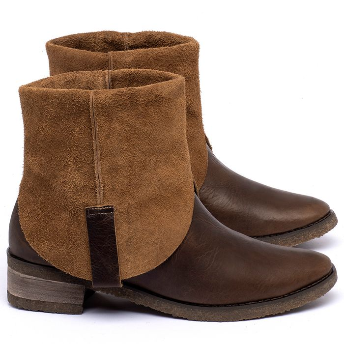Laranja_Lima_Shoes_Sapatos_Femininos_Bota_Cano_Curto_em_Couro_Marrom_-_Codigo_-_56235_1
