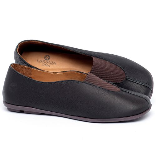 Laranja_Lima_Shoes_Sapatos_Femininos_Sapatilha_Bico_Quadrado_em_Couro_Preto_-_Codigo_-_9494_1