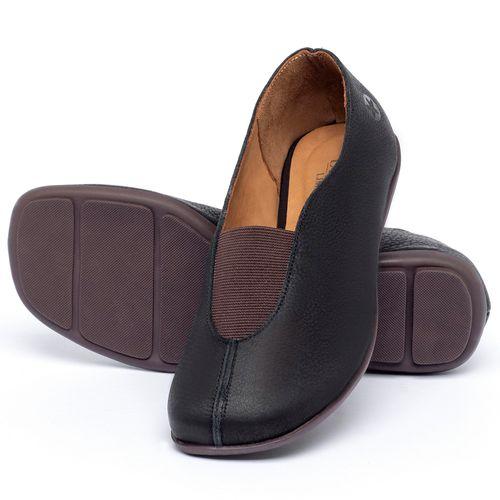 Laranja_Lima_Shoes_Sapatos_Femininos_Sapatilha_Bico_Quadrado_em_Couro_Preto_-_Codigo_-_9494_2