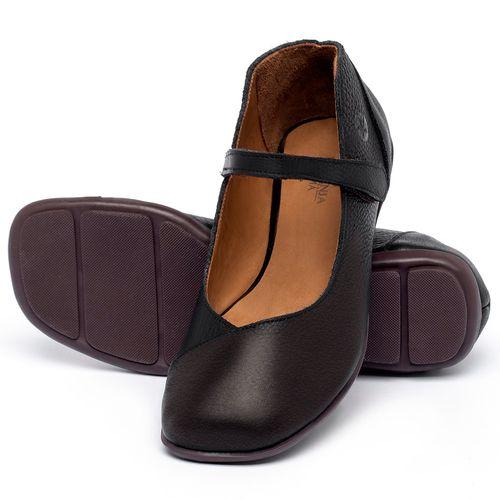 Laranja_Lima_Shoes_Sapatos_Femininos_Sapatilha_Bico_Quadrado_em_Couro_Preto_-_Codigo_-_9495_2