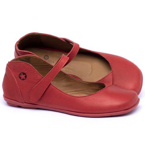 Laranja_Lima_Shoes_Sapatos_Femininos_Sapatilha_Bico_Quadrado_em_Couro_Vermelho_-_Codigo_-_9495_1